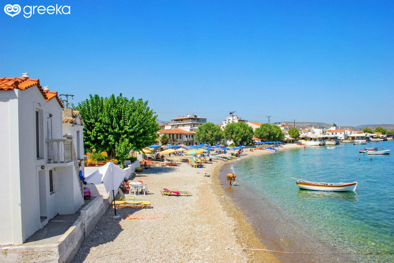 Samos Heraion Beach Samos Beaches Greeka Com
