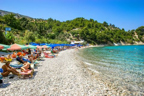 Lemonakia: The beach is located close to Kokkari, the beautiful green village of Samos that attracts many tourists.