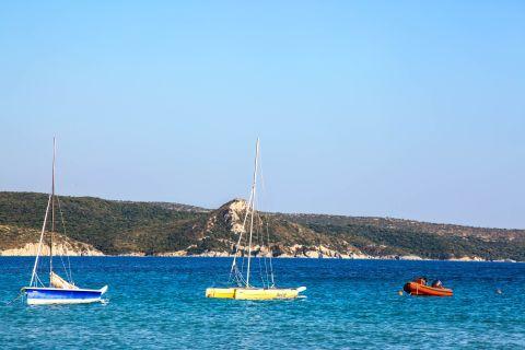 Mykali: Sailing boats.