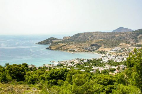 Agia Marina beach: Beautiful nature. View of Agia Marina.
