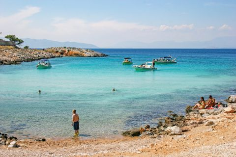 Aponissos: A tranquil beach with amazing, turquoise waters.