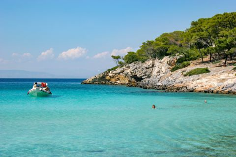 Aponissos: Aponissos is an incredibly beautiful beach with crystal clear waters, surrounded by nature.