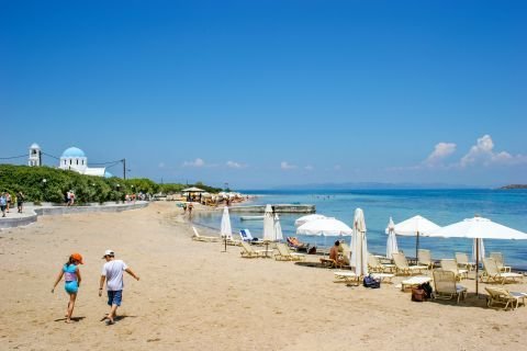 Skala beach: A family-friendly place.
