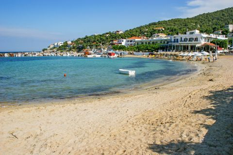 Skala beach: The soft sand and the shallow waters make this beach ideal for children.