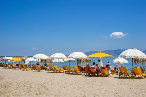 Skala beach: Skala is a well-organized beach.