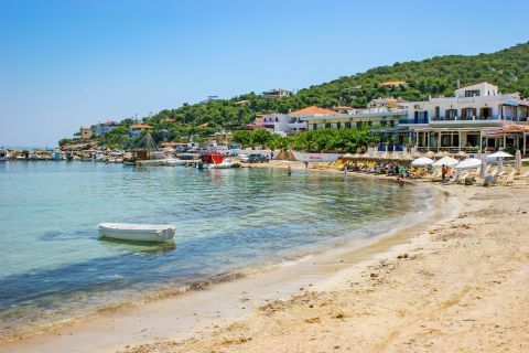 Skala beach: Skala beach is framed by tourist facilities and beautiful natural surroundings.