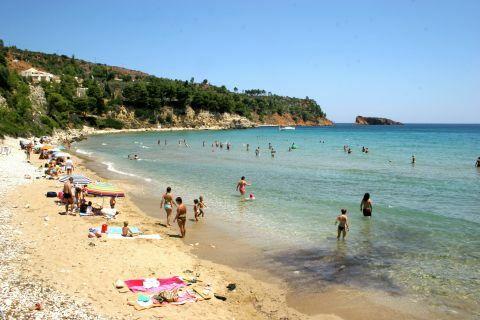 Chrisi Milia: Chrisi Milia sandy beach