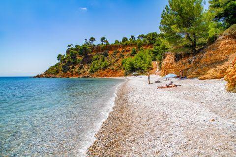 Kokinokastro: Kokkinokastro is a nice beach that combines sand, pebbles and clear deep blue waters.