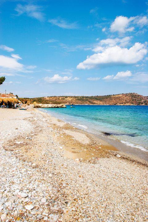 Agia Varvara: Agia Varvara is a quiet and pebbled beach.