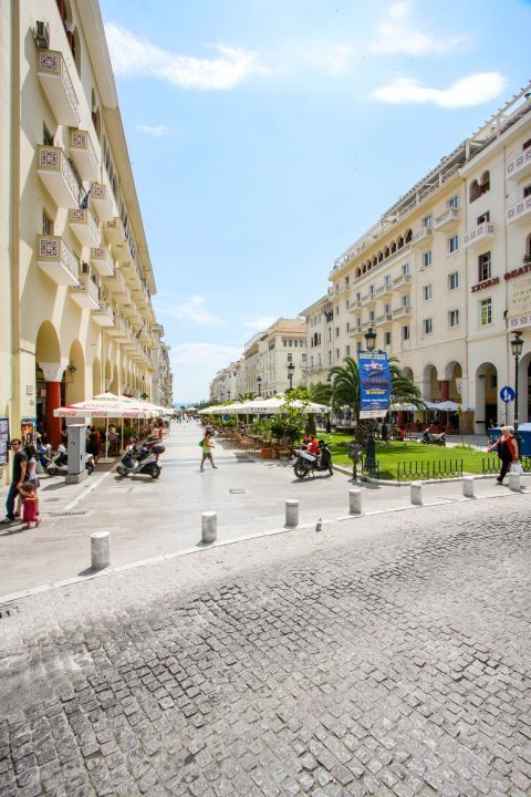 Aristotle Square: A large square with many cafes.