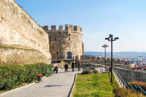 Old Town Ano Poli: The Castle of Thessaloniki dates back to the 4th century A.D, when Theodosius I used to rule the Byzantine Empire.