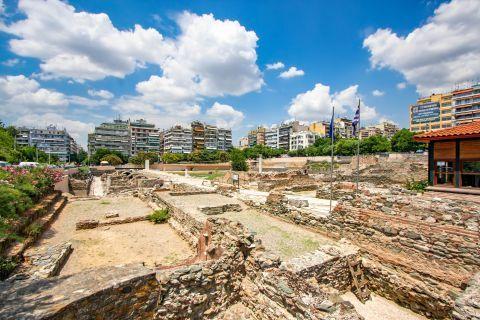 Egnatia: At the ancient site of the Roman Forum or Roman Market.