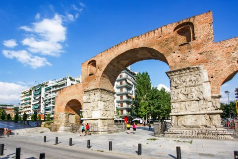 Egnatia: The Arch of Galerius.