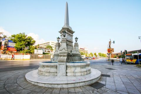 Egnatia: Elegant fountain.