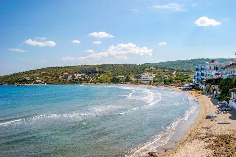 Agia Marina: Agia Marina beach.