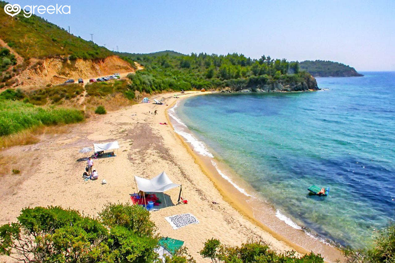 Halkidiki Akti Aretes beach: Map | Greeka