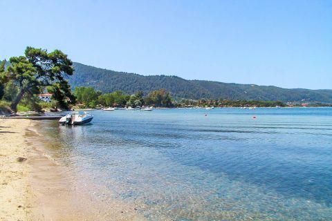Karydi: Karydi beach is popular for its outstandingly beautiful landscape.
