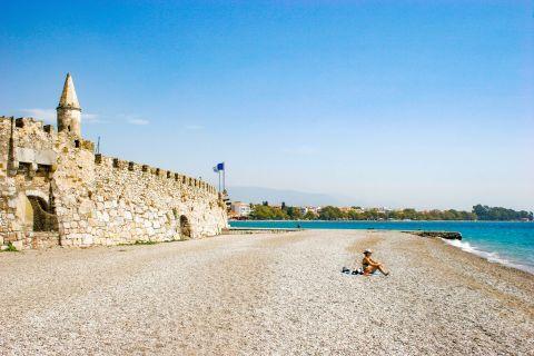 Town Beach: The lovely beach of Nafpaktos Town.