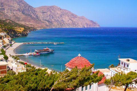 Diafani: View of the harbor of Diafani village.