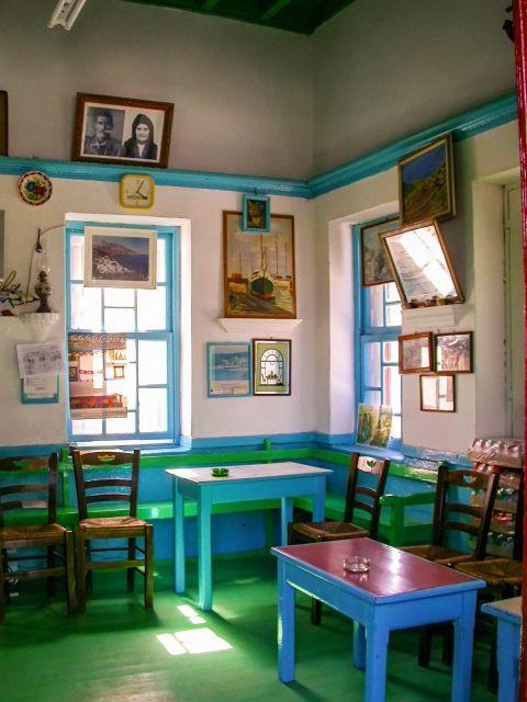 Diafani: A traditional kafenio.