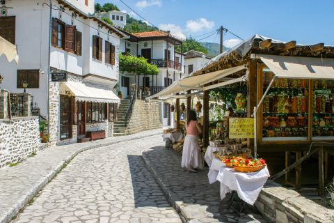 Makrinitsa: Local products in Makrinitsa.