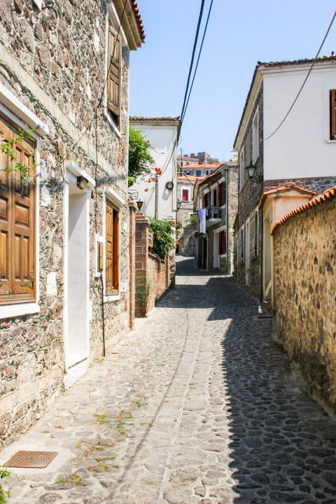 Molivos: A picturesque village with traditional houses made of stone.
