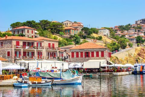 Molivos: Places to stay around the port.