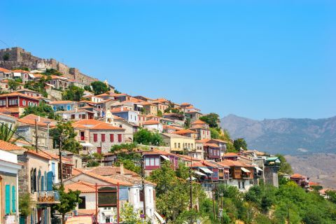 Molivos: The Castle stands above Molyvos village.