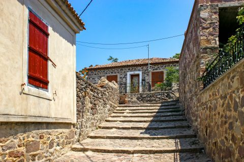 Molivos: Stone built constructions.