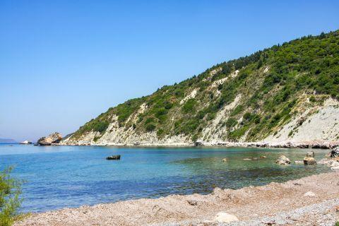 Apidies: An unspoiled beach.
