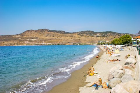 Petra beach: Popular beach.