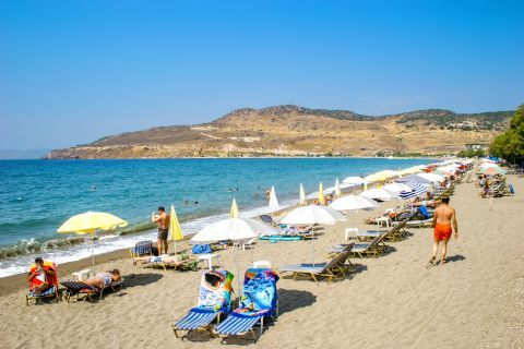 Petra beach: This large and well-organized beach is part of a popular tourist resort.