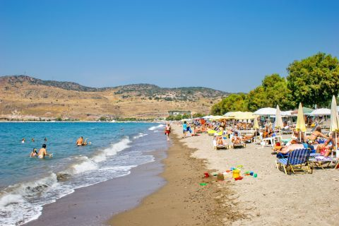 Petra beach: On Petra beach there are many facilities like umbrellas, sun beds, showers and changing cabins.