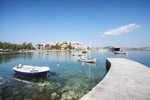 Lagada: Small boats moor at the small bay of Lagada