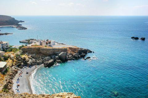 Sfakia beach: Panoramic view of Sfakia beach