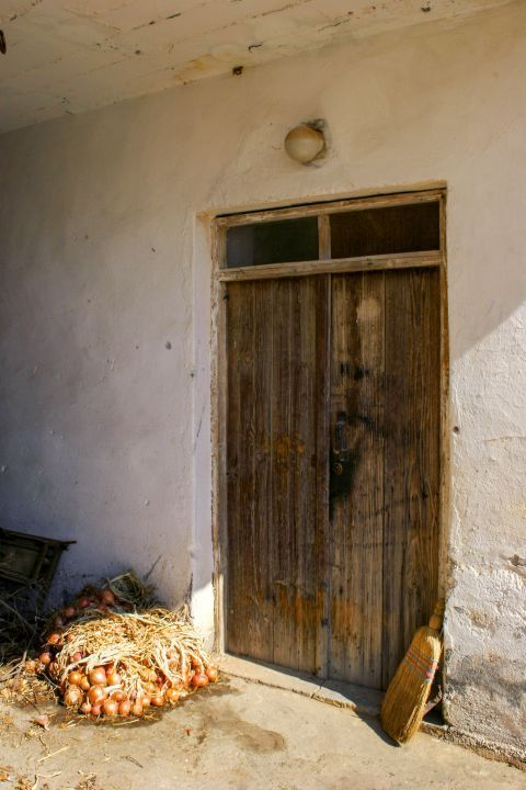 Papadiana: A wooden door of an old house