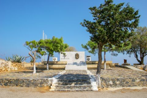 War memorial for Greek cadets that resist German invasion of Crete in 1941