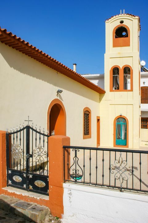 Myrthios: A well-preserved, colorful church.
