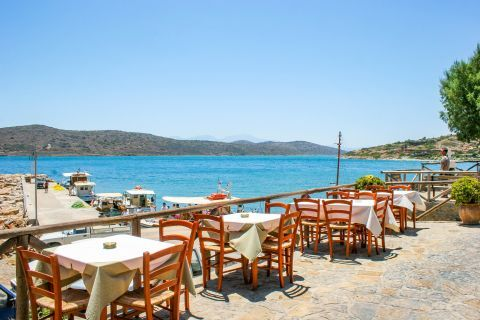 Plaka: Eat and drink, while gazing at the endless blue.