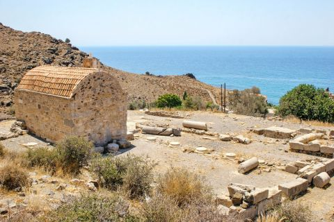 Lentas: Ancient site at the top of a hill, overlooking the sea