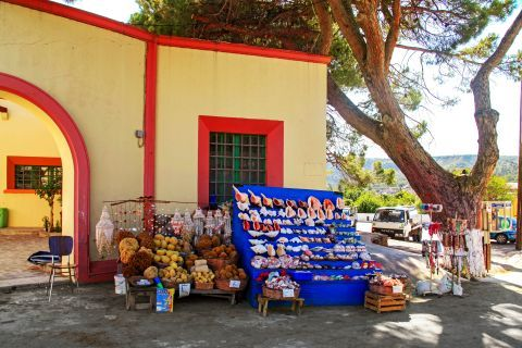 Apolakia: Sponges, shells and many different souvenirs.