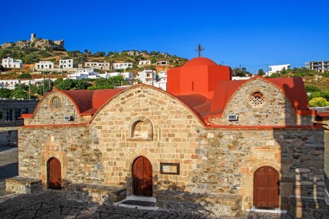 Asklipio: The stone built church of Virgin Mary