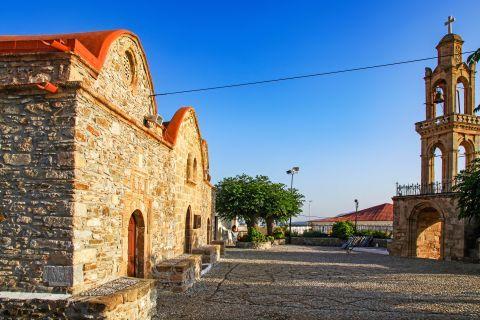Asklipio: The yard of the church of Virgin Mary