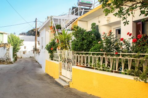 Kalithies: A colorful house with lovely flowers.