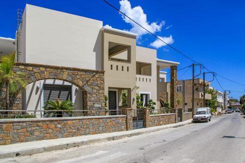 Lardos Village: An impressive, stone built building.