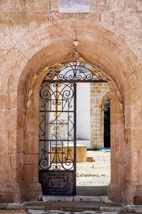 Massari: Entering the premises of a local church.