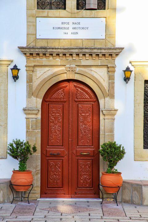 Salakos: The entrance of Virgin Mary church.