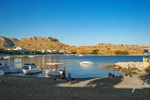 Haraki: Fishing boats on Haraki beach.
