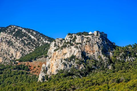 Fournou: Rocky cliffs with short vegetation.