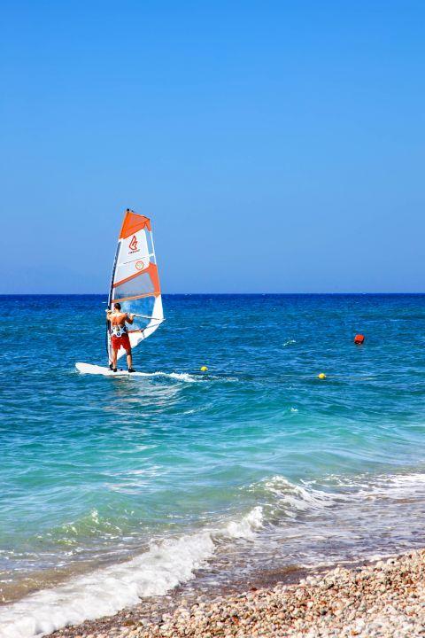 Theologos Beach: Windsurfing on Theologos beach